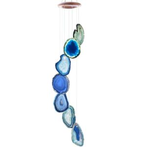 Wind Chime - Unique and Beautiful Agate Slices for Home or Garden Decor