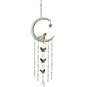 Grasslands Road Fairy in The Moon Wind Chime, 6-Inch
