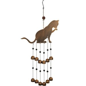 VP Home Fancy Feline Cat Outdoor Garden Decor Wind Chime