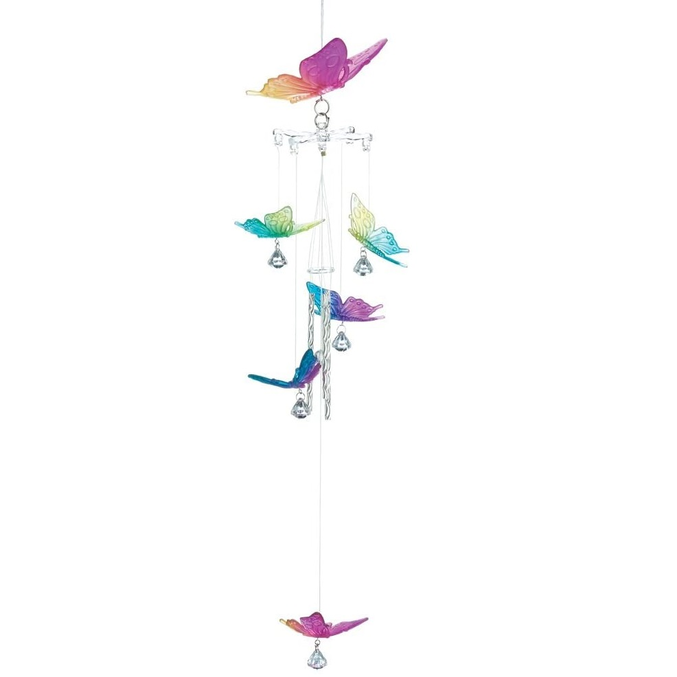 Gifts & Decor Rainbow Butterfly Indoor/Outdoor Garden Wind Chime