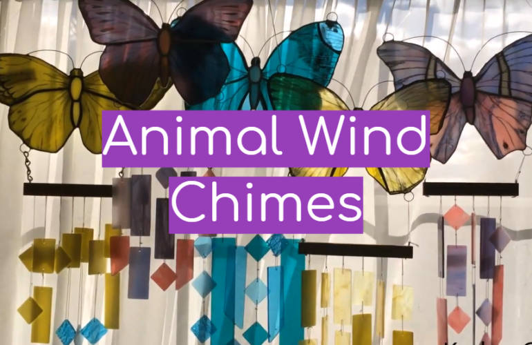 5 Animal Wind Chimes