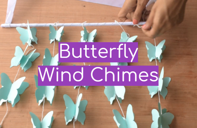 5 Butterfly Wind Chimes